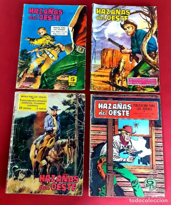 LOTE DE 4 HAZAÑAS DEL OESTE -TORAY (Tebeos y Comics - Toray - Hazañas del Oeste)