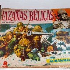 Tebeos: LOTE DE HAZAÑAS BÉLICAS - CÓMIC - ENCUADERNADO - NºS DEL 76 AL 90 + ALMANAQUE 1960.. VER FOTOS. Lote 215684457
