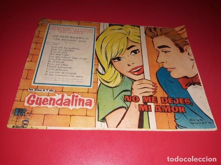 COLECCIÓN GUENDALINA Nº 97 TORAY 1959 CONTRAPORTADA JEAN SIMMONS (Tebeos y Comics - Toray - Guendalina)