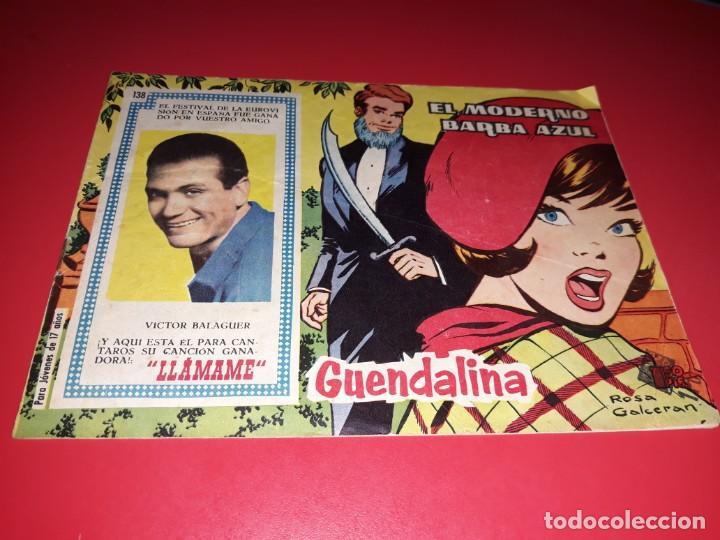 COLECCIÓN GUENDALINA Nº 138 TORAY 1959 CONTRAPORTADA JILL HAWORTH (Tebeos y Comics - Toray - Guendalina)