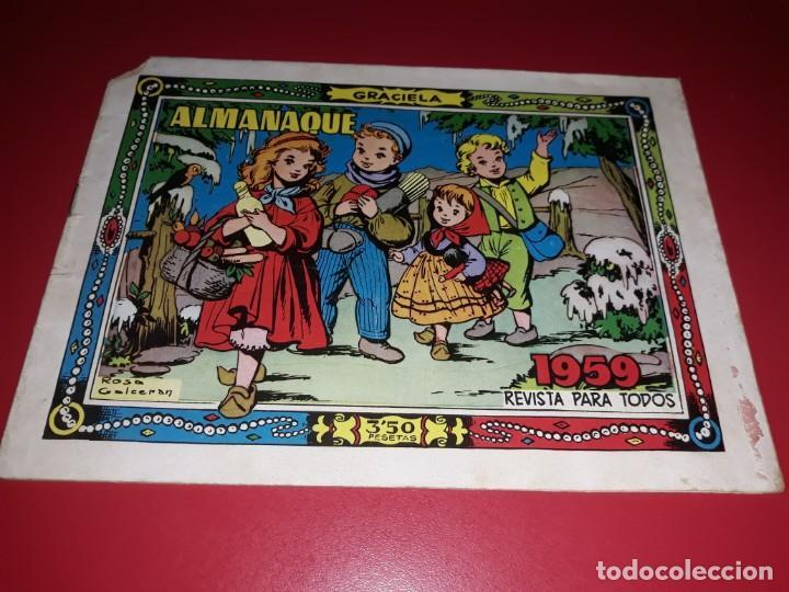 GRACIELA ALMANAQUE 1959 TORAY (Tebeos y Comics - Toray - Graciela)