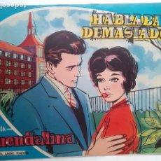 Tebeos: GUENDALINA- Nº 55 -HABLABA DEMASIADO-1960-GRAN JUAN NEBOT-REGULAR-MUY DIFÍCIL-LEAN-3734. Lote 218077801