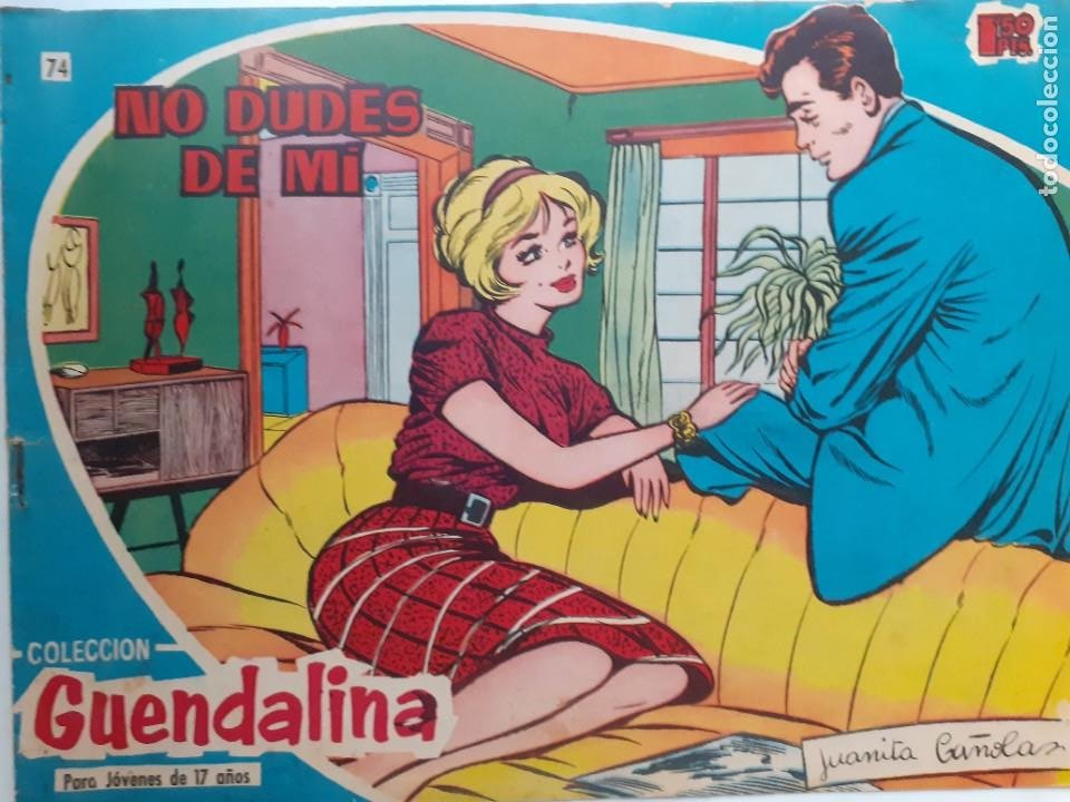 Tebeos: GUENDALINA- Nº 74 -NO DUDES DE MI-1960-GRAN JUANA BAÑOLAS-BRIGITTE BARDOT-MUY DIFÍCIL-LEAN-3736 - Foto 2 - 218080898