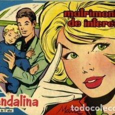 Tebeos: GUENDALINA- Nº 76 -MATRIMONIO DE INTERÉS-1960-GRAN MAITE-SHIRLEY JONES--MUY DIFÍCIL-LEAN-3737. Lote 218082681