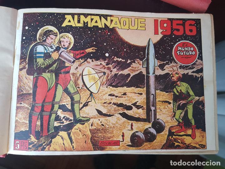 Tebeos: COLECCIÓN 24 TEBEOS/CÓMIC TOMO ORIGINAL MUNDO FUTURO 1 ALMANAQUE 1956 HAZAÑAS BÉLICAS 1955 TORAY( 3) - Foto 3 - 218950456
