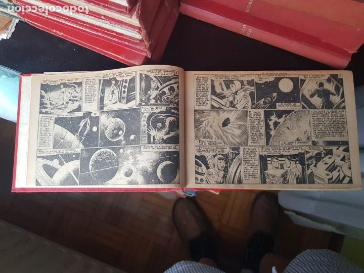 Tebeos: COLECCIÓN 24 TEBEOS/CÓMIC TOMO ORIGINAL MUNDO FUTURO 1 ALMANAQUE 1956 HAZAÑAS BÉLICAS 1955 TORAY( 3) - Foto 4 - 218950456