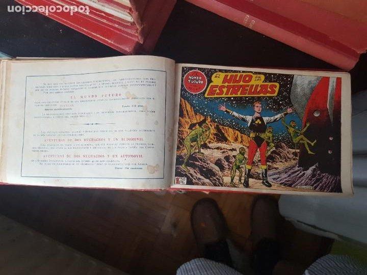 Tebeos: COLECCIÓN 24 TEBEOS/CÓMIC TOMO ORIGINAL MUNDO FUTURO 1 ALMANAQUE 1956 HAZAÑAS BÉLICAS 1955 TORAY( 3) - Foto 10 - 218950456