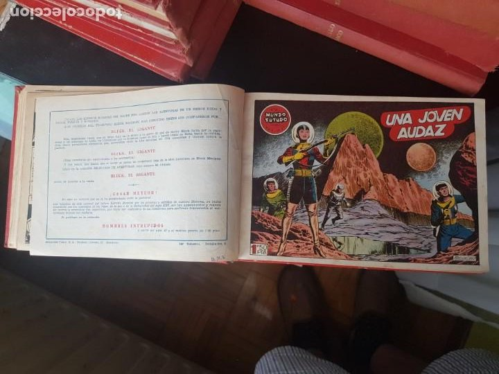 Tebeos: COLECCIÓN 25 TEBEOS/CÓMIC TOMO ORIGINAL MUNDO FUTURO ALMANAQUE 1957 HAZAÑAS BÉLICAS TORAY( 1) - Foto 8 - 218951385