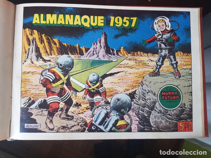 Tebeos: COLECCIÓN 25 TEBEOS/CÓMIC TOMO ORIGINAL MUNDO FUTURO ALMANAQUE 1957 HAZAÑAS BÉLICAS TORAY( 1) - Foto 25 - 218951385