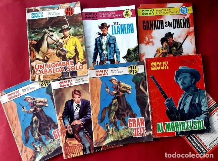 LOTE DE 7 SIOUX -EDITORIAL TORAY (Tebeos y Comics - Toray - Sioux)