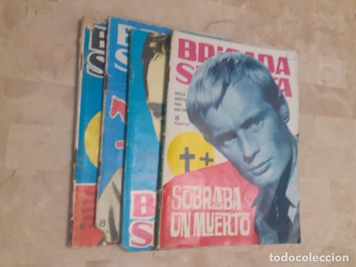 LOTE DE 4 COMICS PARA ADULTOS DE LA COLECCION BRIGADA SECRETA (Tebeos y Comics - Toray - Brigada Secreta)