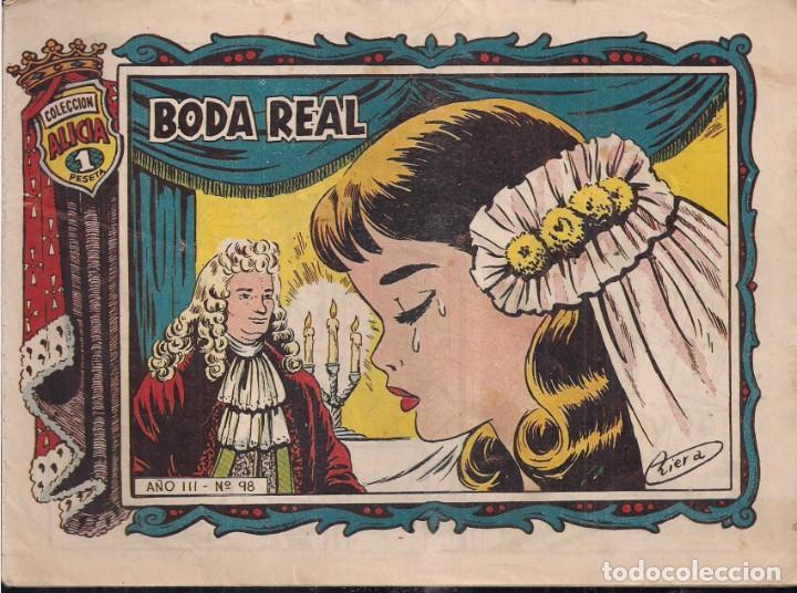 ALICIA Nº 98: BODA REAL (Tebeos y Comics - Toray - Alicia)