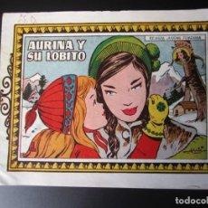 Tebeos: AZUCENA (1950, TORAY) 58 · 27-VIII-1951 · AURINA Y SU LOBITO. Lote 220630558