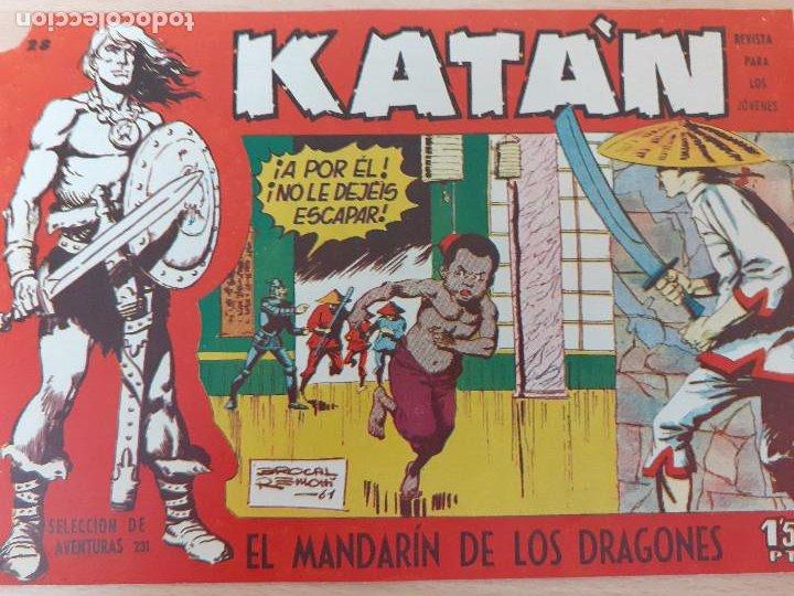KATÁN Nº 28. ORIGINAL. EL MANDARÍN DE LOS DRAGONES. TORAY 1958 (Tebeos y Comics - Toray - Katan)