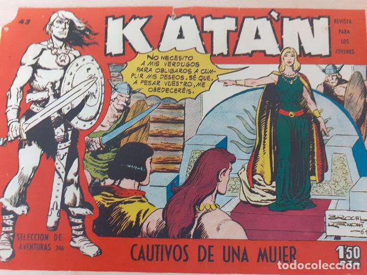 KATÁN Nº 43. ORIGINAL.CAUTIVOS DE UNA MUJAR. TORAY 1958 (Tebeos y Comics - Toray - Katan)
