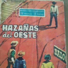 Tebeos: HAZAÑAS DEL OESTE, 4 HOMBRES MANCOS. Lote 221339623
