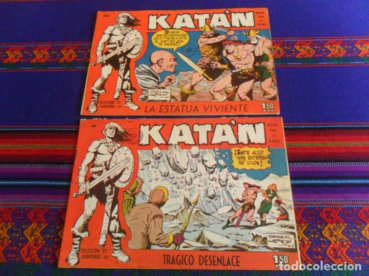 KATÁN NºS 31 Y 36 SELECCIÓN DE AVENTURAS NºS 234 Y 239. TORAY 1958. 1,50 PTS. ORIGINALES. (Tebeos y Comics - Toray - Katan)