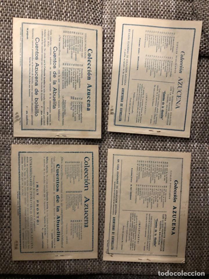 Tebeos: lote 10 COMICS COLECCION AZUCENA 1 PESETA MUY BUENOS CASI SIN USO ORIGINAL 1952 - Foto 2 - 222071556