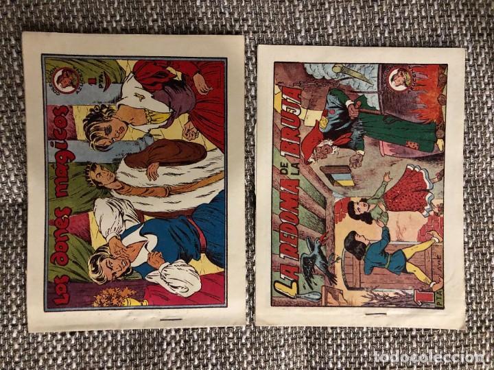 Tebeos: lote 10 COMICS COLECCION AZUCENA 1 PESETA MUY BUENOS CASI SIN USO ORIGINAL 1952 - Foto 4 - 222071556