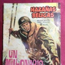 Tebeos: HAZAÑAS BÉLICAS . Nº 92. UN MILLONARIO EN LA GUERRA. EDICIONES TORAY 1965. Lote 222284780
