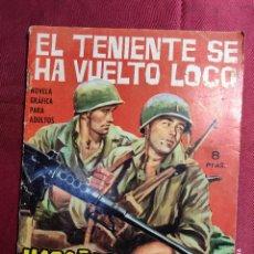 Tebeos: HAZAÑAS BÉLICAS . Nº 90. EL TENIENTE SE HA VUELTO LOCO. EDICIONES TORAY 1965. Lote 222287491