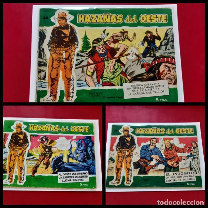 3-HAZAÑAS DEL OESTE-EDITORIAL TORAY-NUMEROS: 15-34-37 (Tebeos y Comics - Toray - Hazañas del Oeste)