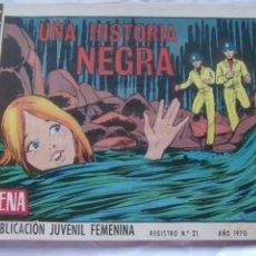 Tebeos: REVISTA JUVENIL FEMENINA AZUCENA NUM 1159 -UNA HISTORIA NEGRA. Lote 222508101