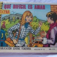 Tebeos: REVISTA JUVENIL FEMENINA AZUCENA NUM 1160 - QUE DIFÍCIL ES AMAR. Lote 222508208