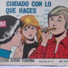 Tebeos: REVISTA JUVENIL FEMENINA AZUCENA NÚM. 1173 - CUIDADO CON LO QUE HACES. Lote 222510791