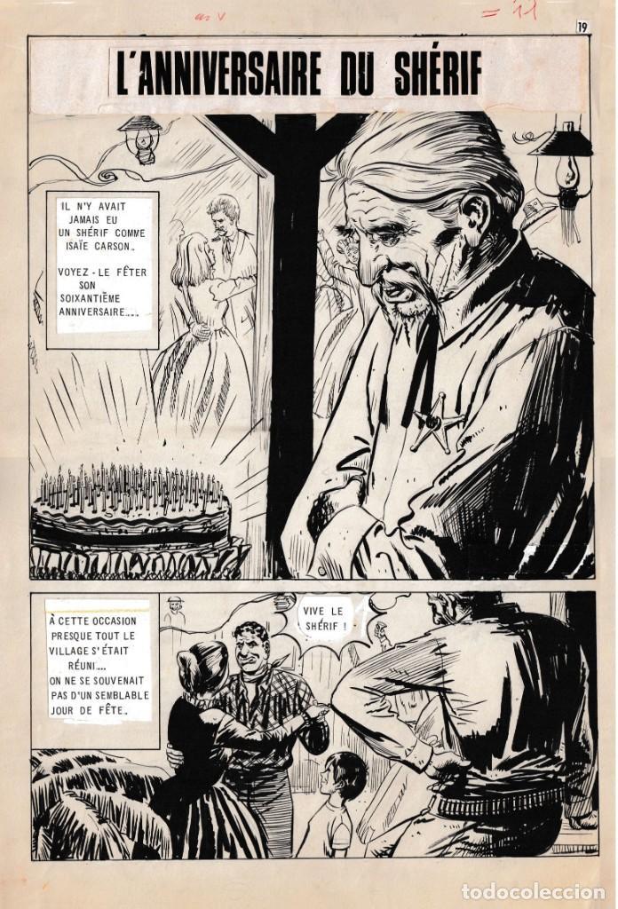 DIBUJOS ORIGINALES HAZAÑAS DEL OESTE, 1962. EDITORIAL TORAY. 8 PÁGINAS, COMPLETO. ANTONIO PÉREZ (Tebeos y Comics - Toray - Hazañas del Oeste)