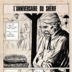 Tebeos: DIBUJOS ORIGINALES HAZAÑAS DEL OESTE, 1962. EDITORIAL TORAY. 8 PÁGINAS, COMPLETO. ANTONIO PÉREZ. Lote 223496246