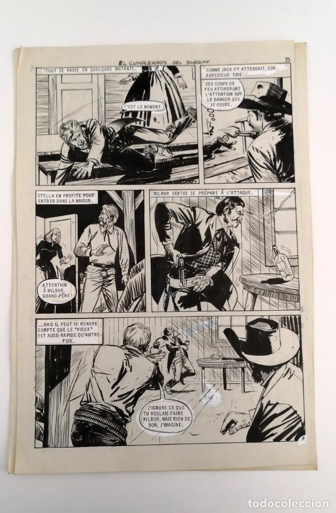 Tebeos: DIBUJOS ORIGINALES HAZAÑAS DEL OESTE, 1962. EDITORIAL TORAY. 8 PÁGINAS, COMPLETO. ANTONIO PÉREZ - Foto 7 - 223496246