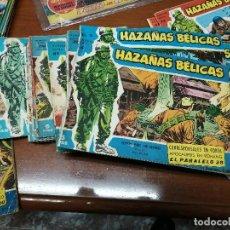 Tebeos: HAZAÑAS BELICAS - SERIE AZUL - ORIGINALES - MUY USADOS - 28 NUMEROS Y ALMANAQUE 1960. Lote 223657783