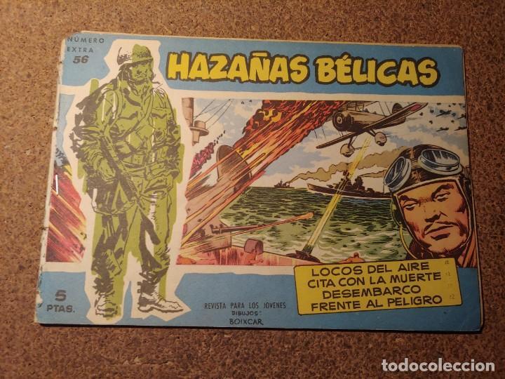 COMIC DE HAZAÑAS BELICAS EN LOCOS DEL AIRE DEL AÑO 1958 Nº 56 (Tebeos y Comics - Toray - Hazañas Bélicas)