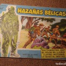 Tebeos: COMIC DE HAZAÑAS BELICAS EN SALTAMONTES JEEP DEL AÑO 1958 Nº 52. Lote 224340392