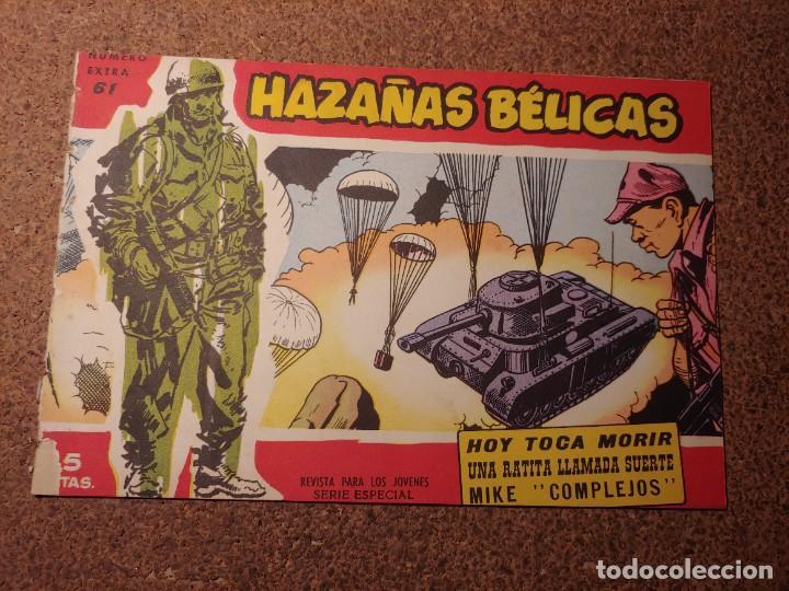 COMIC DE HAZAÑAS BELICAS EN HOY TOCA MORIR DEL AÑO 1958 Nº 61 (Tebeos y Comics - Toray - Hazañas Bélicas)