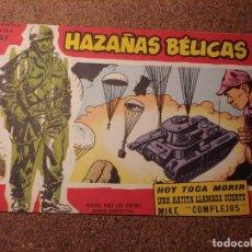 Tebeos: COMIC DE HAZAÑAS BELICAS EN HOY TOCA MORIR DEL AÑO 1958 Nº 61. Lote 224340785