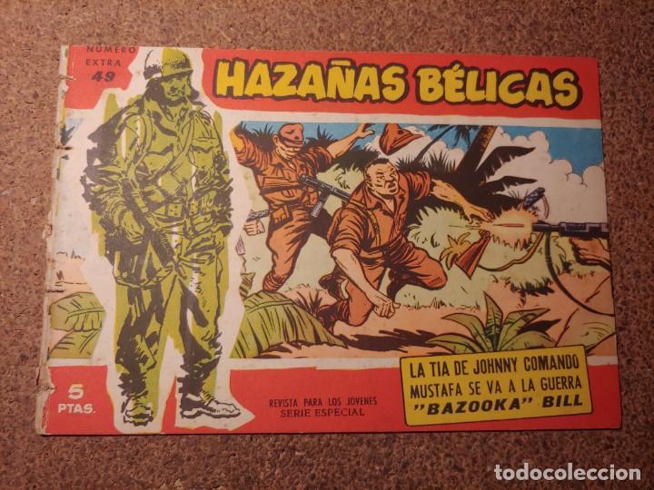COMIC DE HAZAÑAS BELICAS EN LA TIA DE JOHNNY COMANDO DEL AÑO 1958 Nº 49 (Tebeos y Comics - Toray - Hazañas Bélicas)