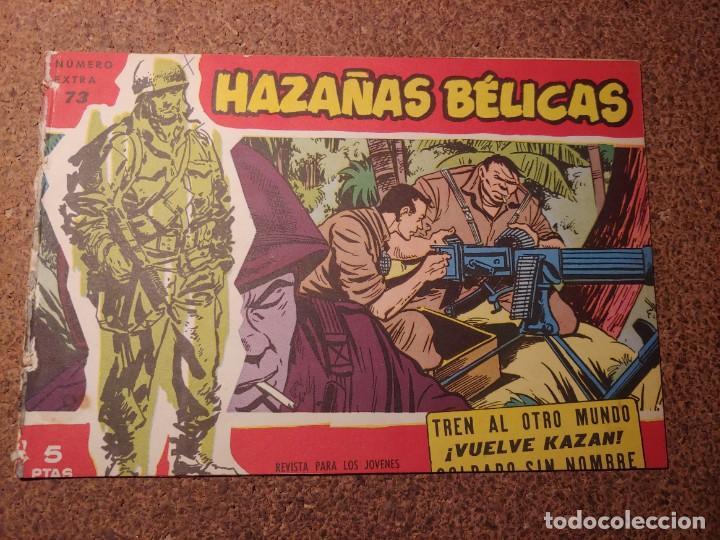 COMIC DE HAZAÑAS BELICAS EN TREN AL OTRO MUNDO DEL AÑO 1958 Nº 73 (Tebeos y Comics - Toray - Hazañas Bélicas)