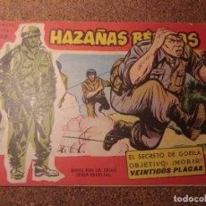 Tebeos: COMIC DE HAZAÑAS BELICAS EN EL SECRETO DE GORILA DEL AÑO 1958 Nº 108. Lote 224344406