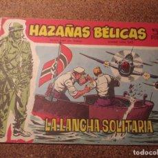 Tebeos: COMIC DE HAZAÑAS BELICAS EN LA LANCHA SOLITARIA DEL AÑO 1958 Nº 145. Lote 224350126
