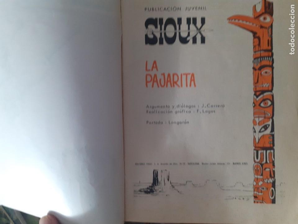 Tebeos: SIOUX - Nº 125 -LA PAJARITA - 1969- GRAN J.Mª. BELLALTA-MUY BUENO-DIFÍCIL- LEAN-3996 - Foto 4 - 224382243