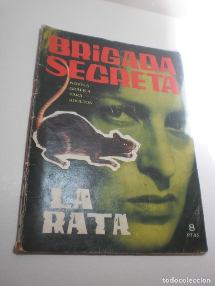 BRIGADA SECRETA. LA RATA 1964 (ALGÚN DEFECTO) (Tebeos y Comics - Toray - Brigada Secreta)