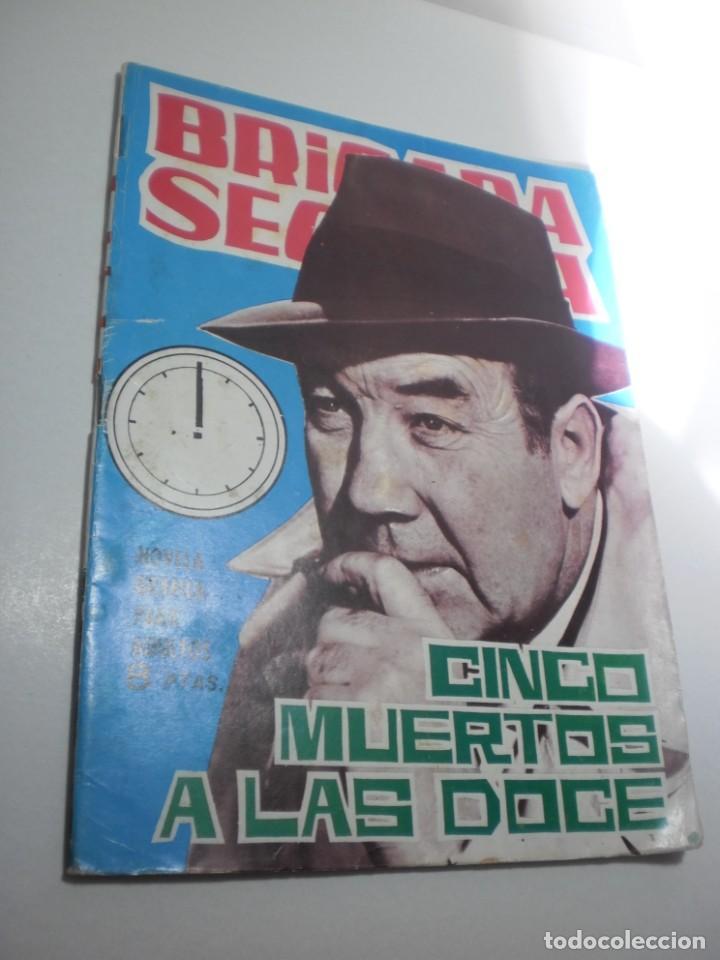 BRIGADA SECRETA. CINCO MUERTOS A LAS DOCE 1965 (EN BUEN ESTADO) (Tebeos y Comics - Toray - Brigada Secreta)