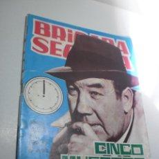 Tebeos: BRIGADA SECRETA. CINCO MUERTOS A LAS DOCE 1965 (EN BUEN ESTADO). Lote 224655486