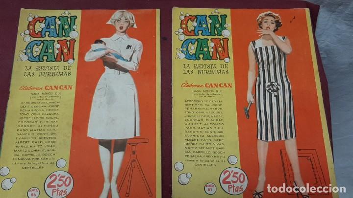 LOTE 2 NUMEROS DE CAN CAN...1959 (Tebeos y Comics - Toray - Otros)