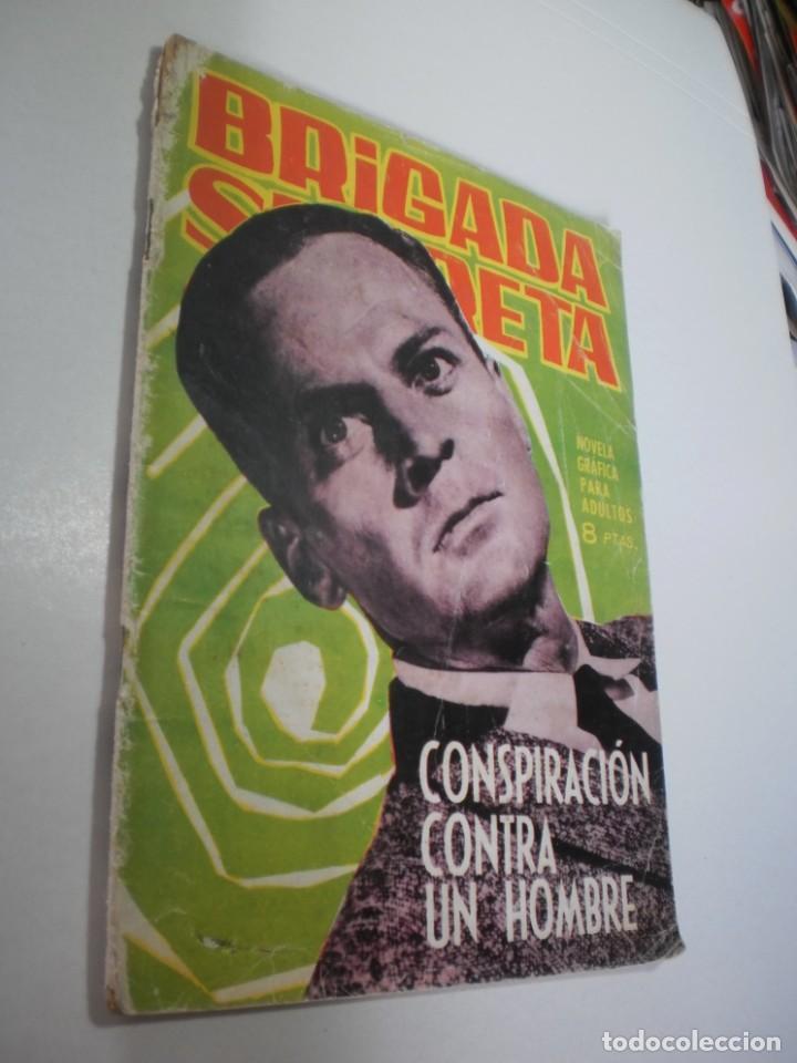 BRIGADA SECRETA Nº 54 CONSPIRACIÓN CONTRA UN HOMBRE (ESTADO NORMAL, LEER) (Tebeos y Comics - Toray - Brigada Secreta)