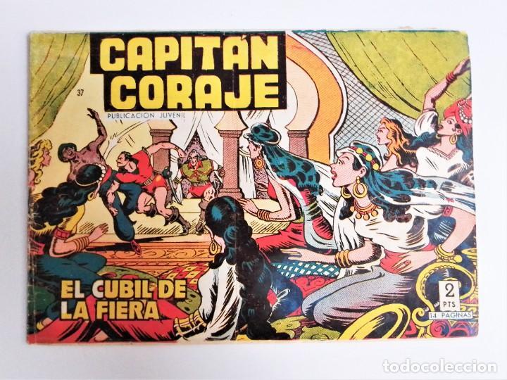 Tebeos: CAPITÁN CORAJE 37 EL CUBIL DE LA FERIA EDICIONES TORAY, S.A. 1958 14 PÁGINAS G. IRANZO - Foto 2 - 231283025