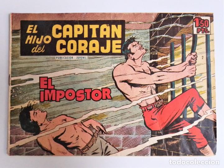 Tebeos: EL HIJO del CAPITÁN CORAJE 2 EL IMPOSTOR TORAY, S.A. 1958 12 PÁGINAS SESÉN Y GIRALT - Foto 2 - 231287430