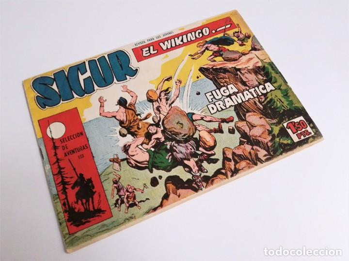 SIGUR EL WIKINGO VIKINGO FUGA DRAMÁTICA SELECCIÓN DE AVENTURAS 133 TORAY 1958 JOSE ORTIZ (Tebeos y Comics - Toray - Otros)